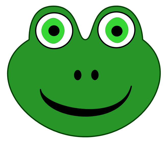 Frog face google search. Frogs clipart head
