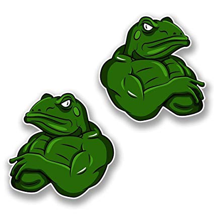 Frogs clipart muscular. Amazon com x cm