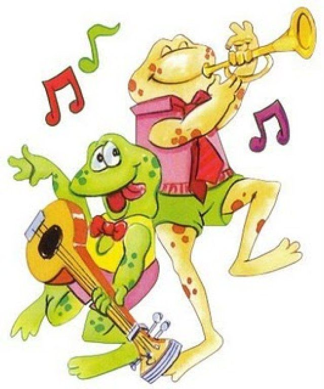 Music frog art pictures. Frogs clipart musical