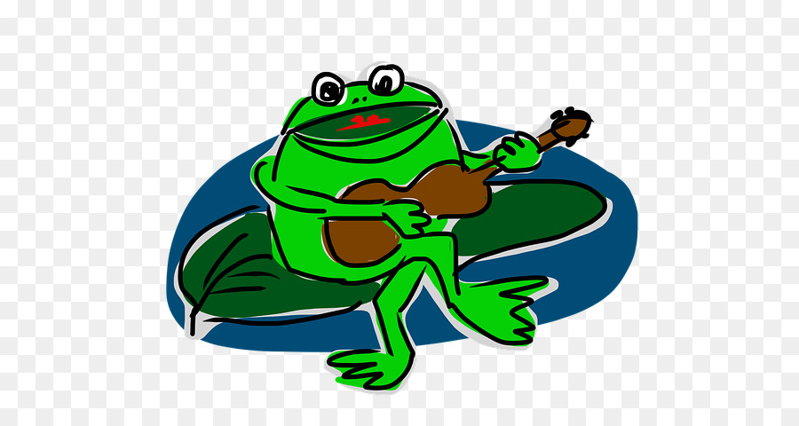 Green tree frog music. Frogs clipart musical