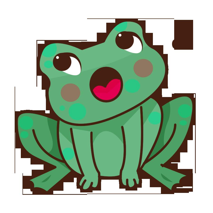 Kaeru frog no uta. Frogs clipart musical