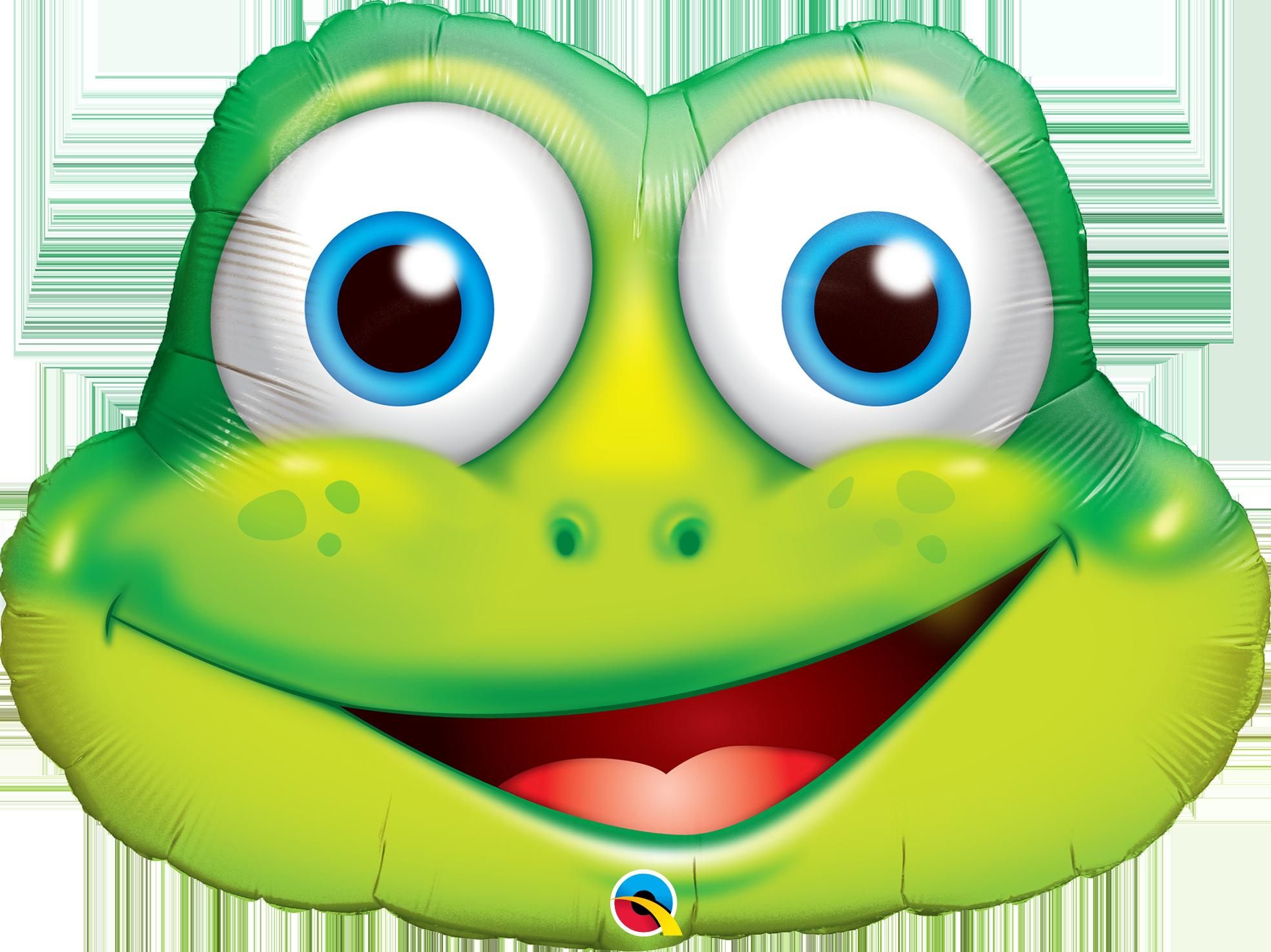Frogs clipart shape. Frog super foil balloon