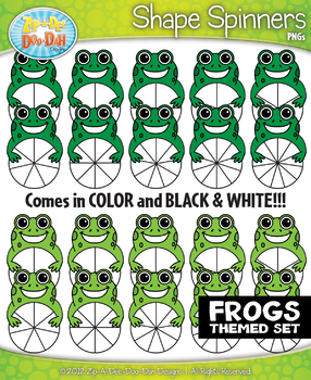 Frogs clipart shape. Spinner shapes zip a