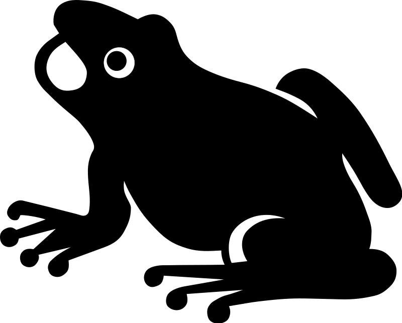 Free black and white. Frogs clipart symmetrical