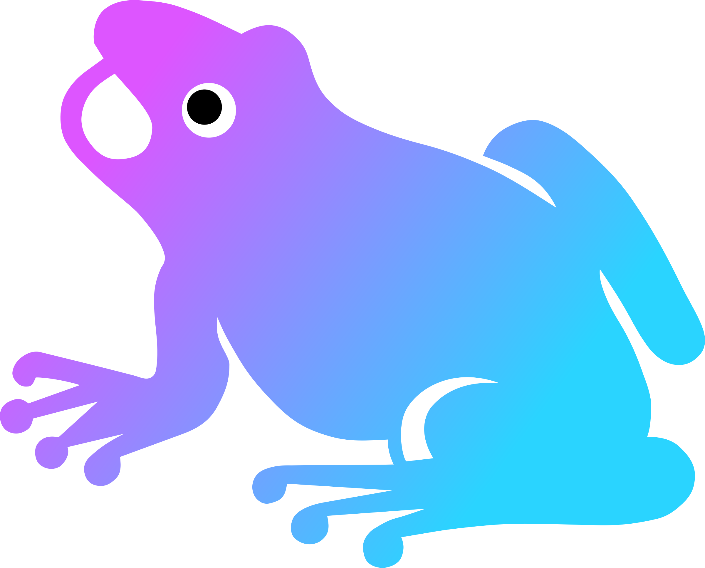 Frogg colorized daily sketch. Frogs clipart yoga