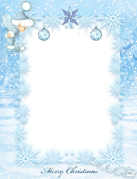 Christmas transparent borders and. Frost border png