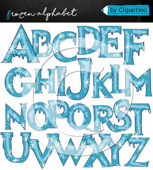 Frozen clipart alphabet. Christmas