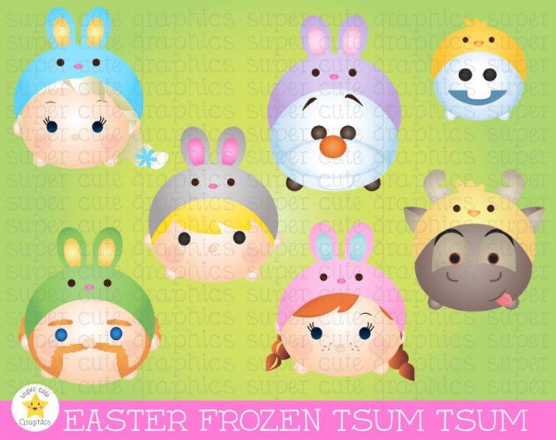 Tsum party princess printable. Frozen clipart easter