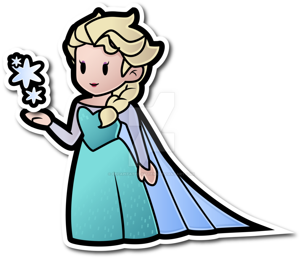 Frozen clipart elsa doll. As a paper drawing