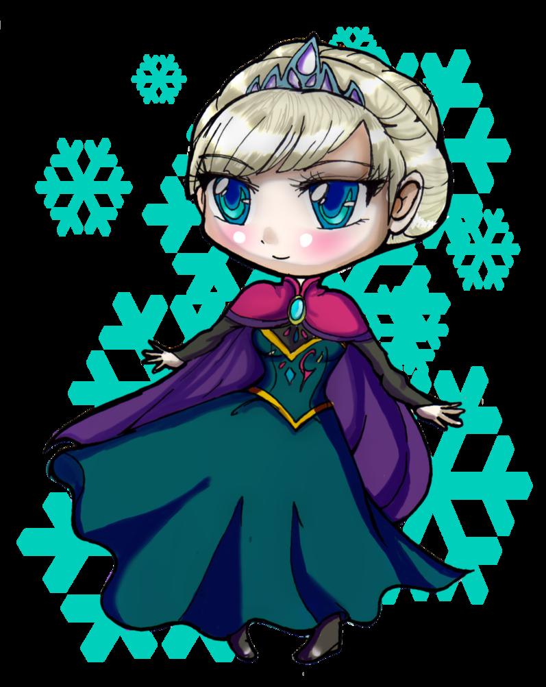 Frozen clipart elsa frozen face. Chibi by danielle chan