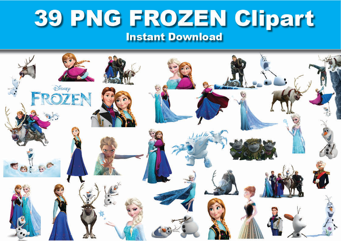 Character cliparts download clip. Frozen clipart free vector