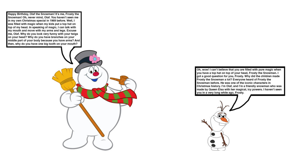 Olaf clipart mouth. The snowman meets frosty