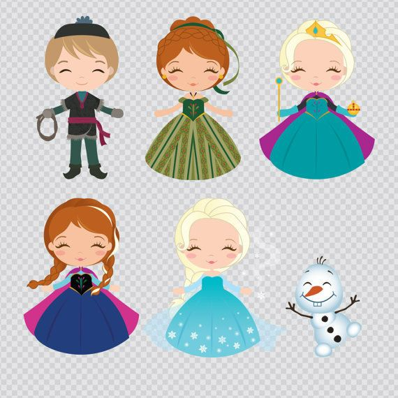 Frozen clipart frozen cartoon. The snow queen set