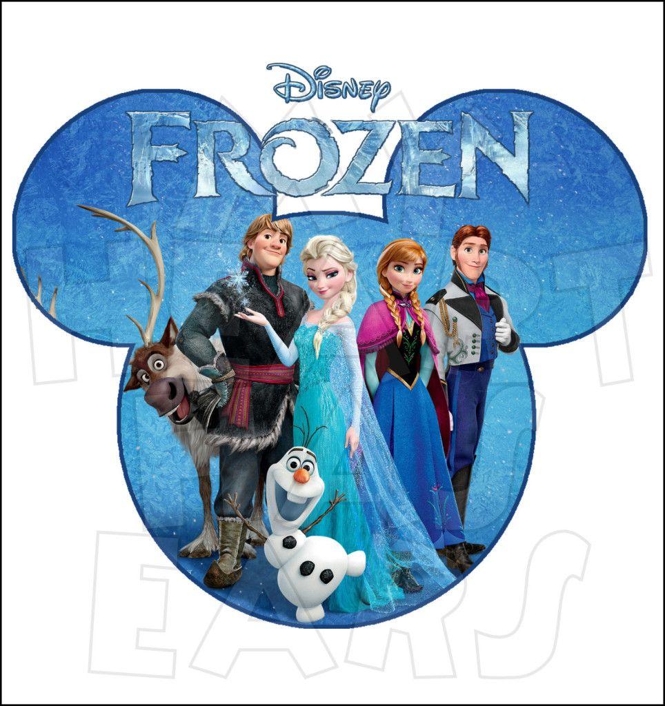 Disney in mickey head. Frozen clipart frozen cast