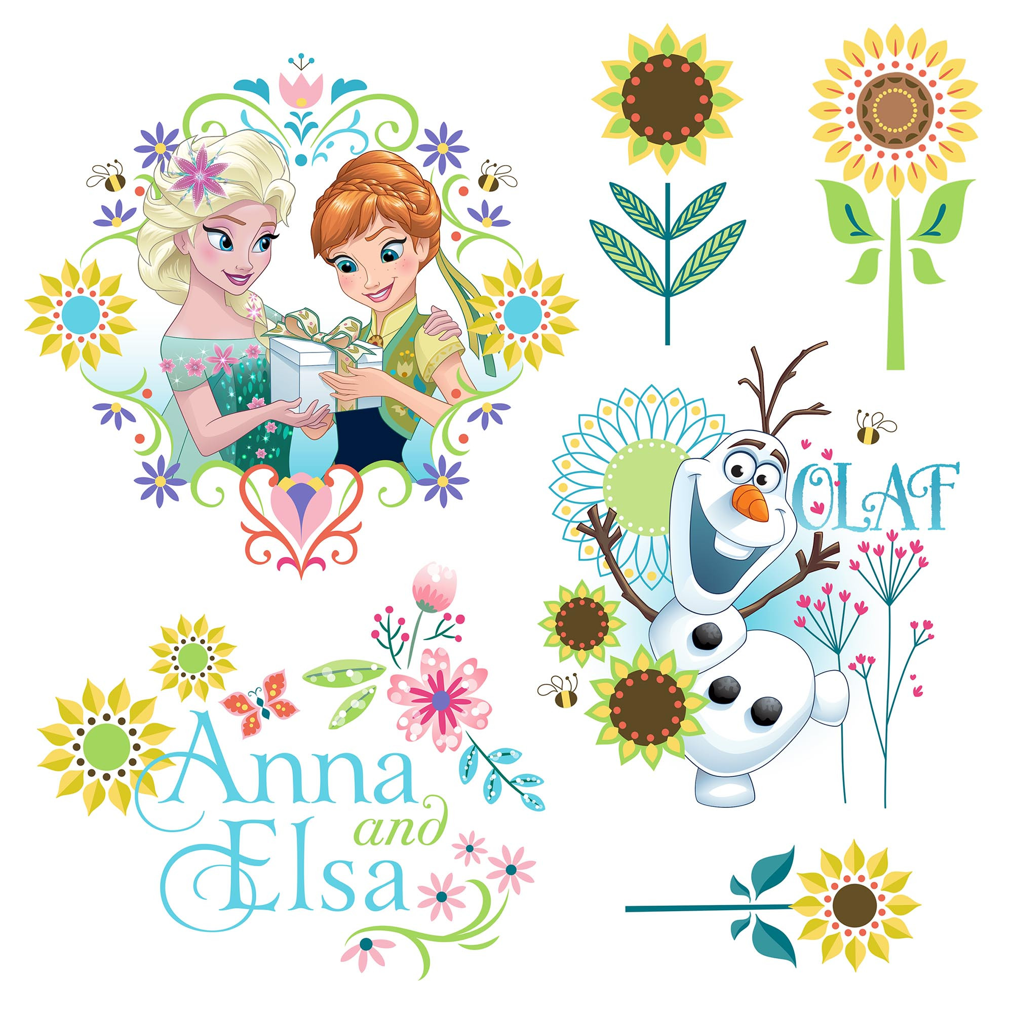 Window sticker from komar. Frozen clipart frozen flower