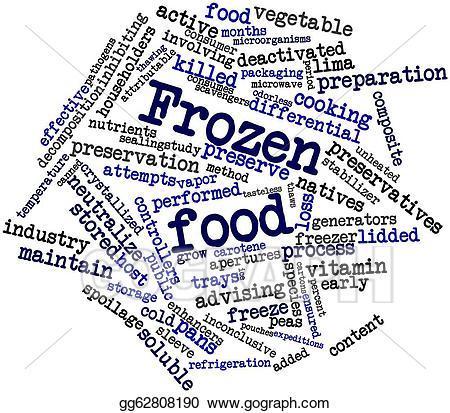 Stock illustration food gg. Frozen clipart frozen word