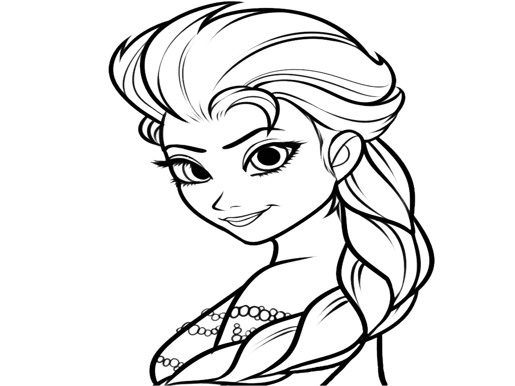 Frozen Clipart Girl Coloring Page  Frozen Girl Coloring