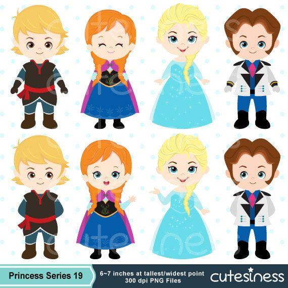 Frozen clipart hacer. Instant download snow princess