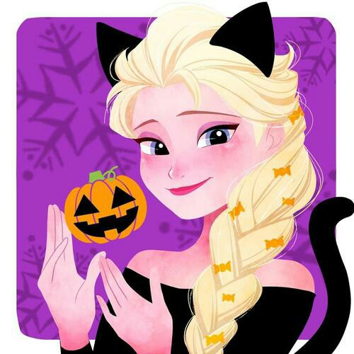 Frozen clipart halloween. Elsa version