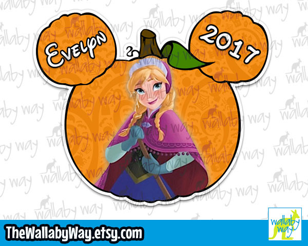 Frozen clipart halloween. Pumpkin mickey head anna