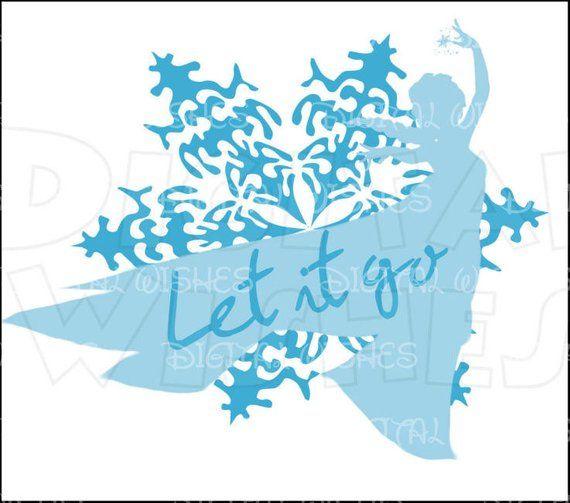 Elsa from disney silhouette. Frozen clipart let it go