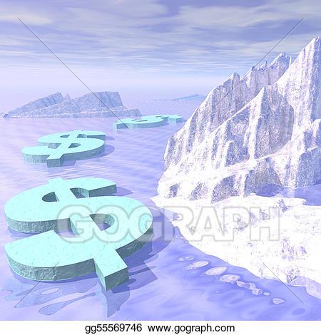 Frozen clipart money. Freeze stock illustration gg