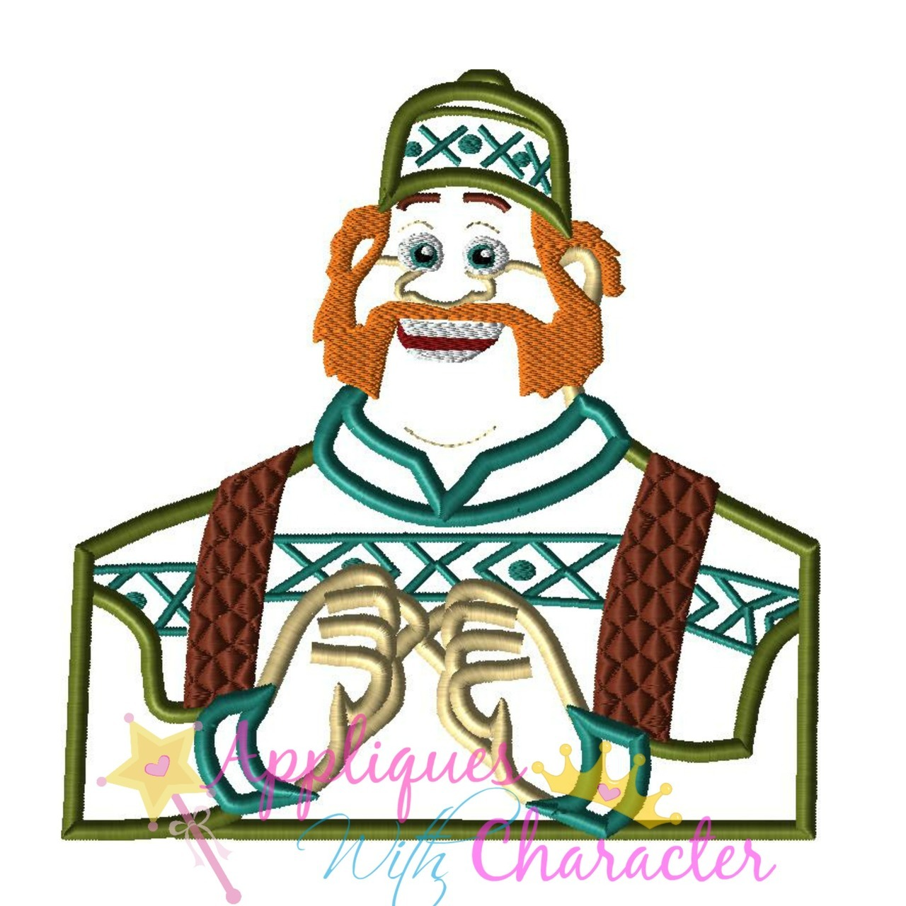 Applique design . Frozen clipart oaken