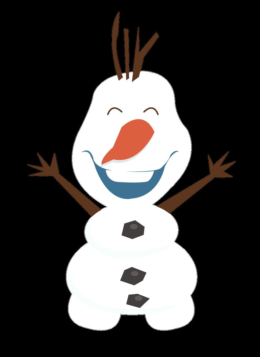 Minus say hello congelou. Frozen clipart olaf snowman