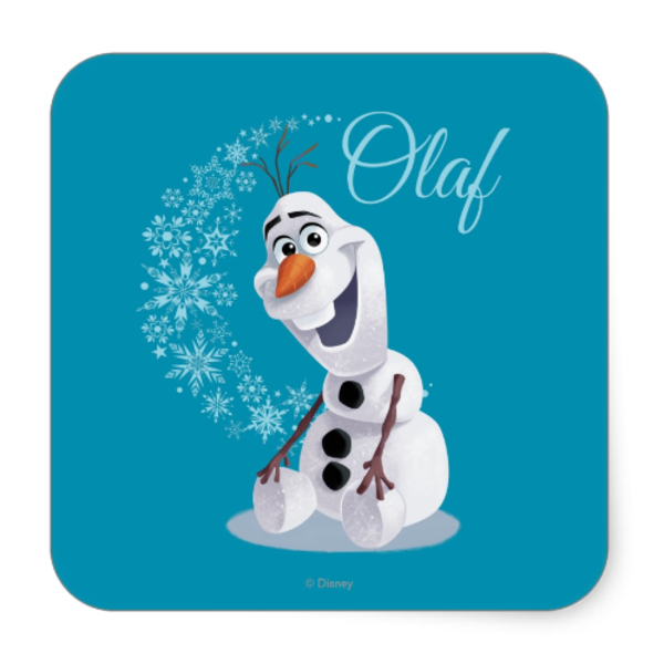 Favor stickers free images. Olaf clipart party