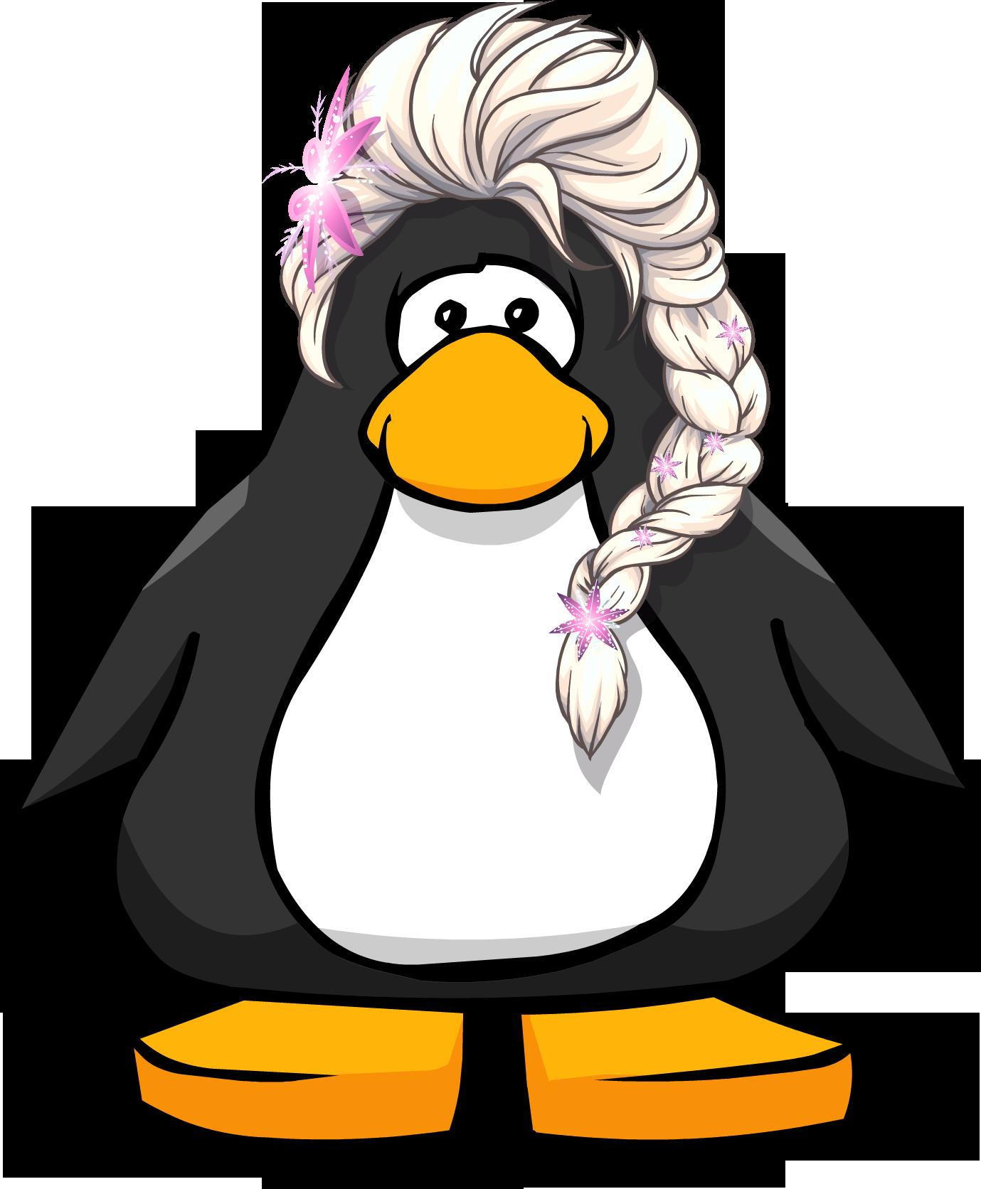 Image the flowers on. Frozen clipart penguin