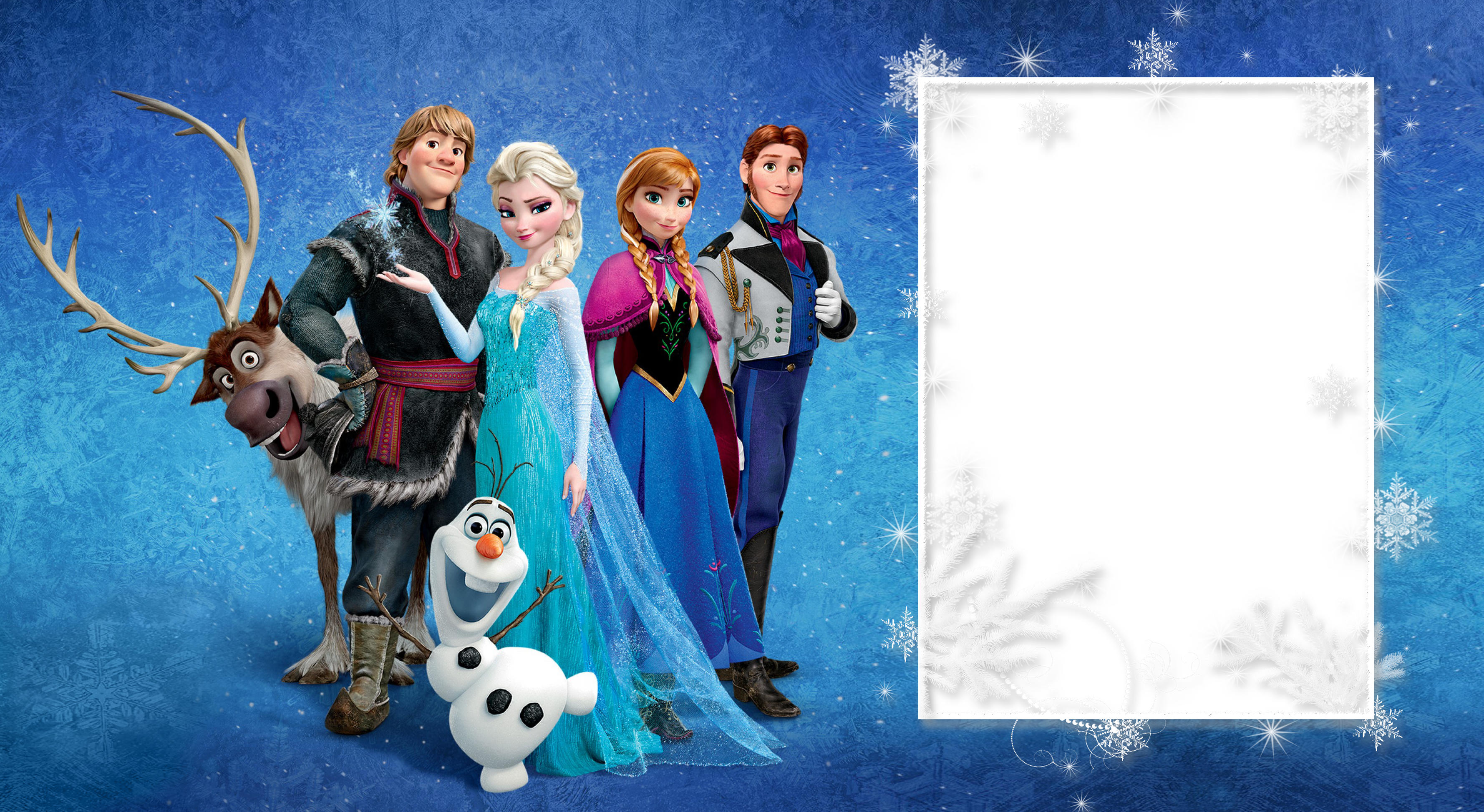 Large transparent png gallery. Frozen clipart picture frame