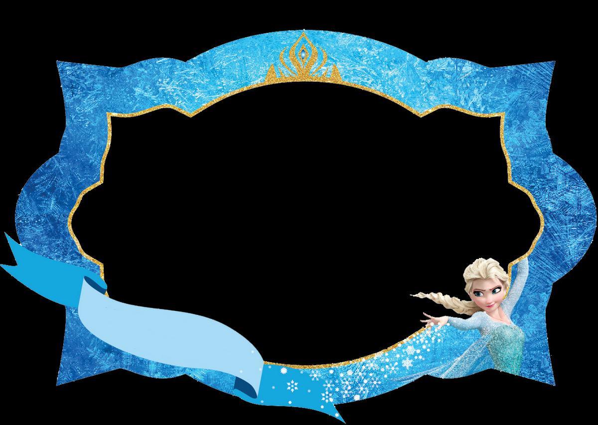 Frozen clipart picture frame. Etiquetas para imprimir gratis