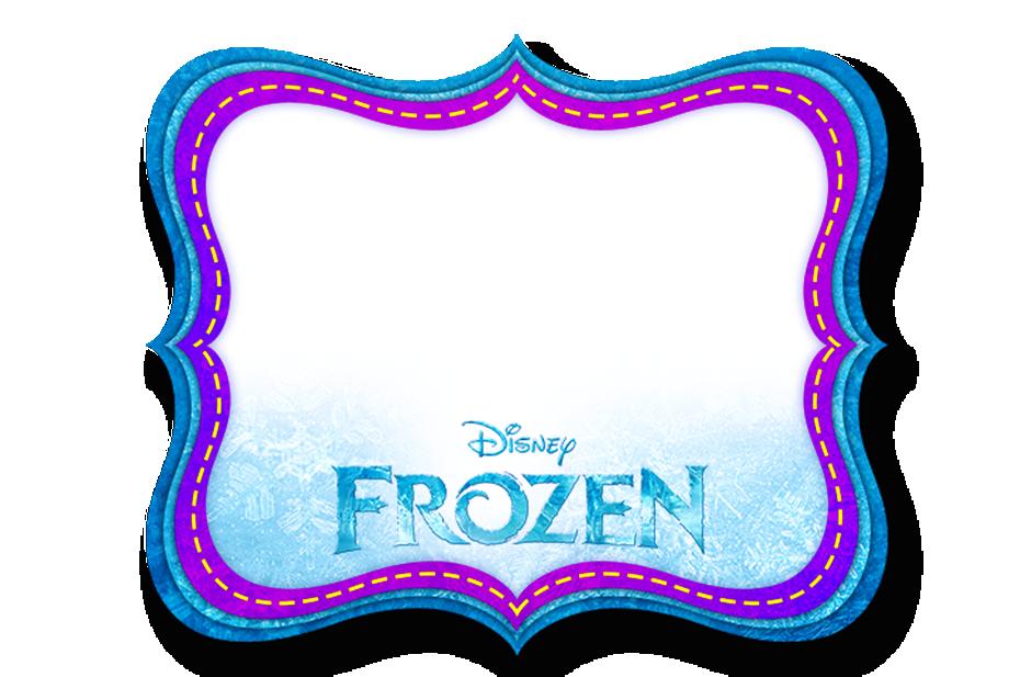 Roxo e azul pinterest. Frozen clipart picture frame