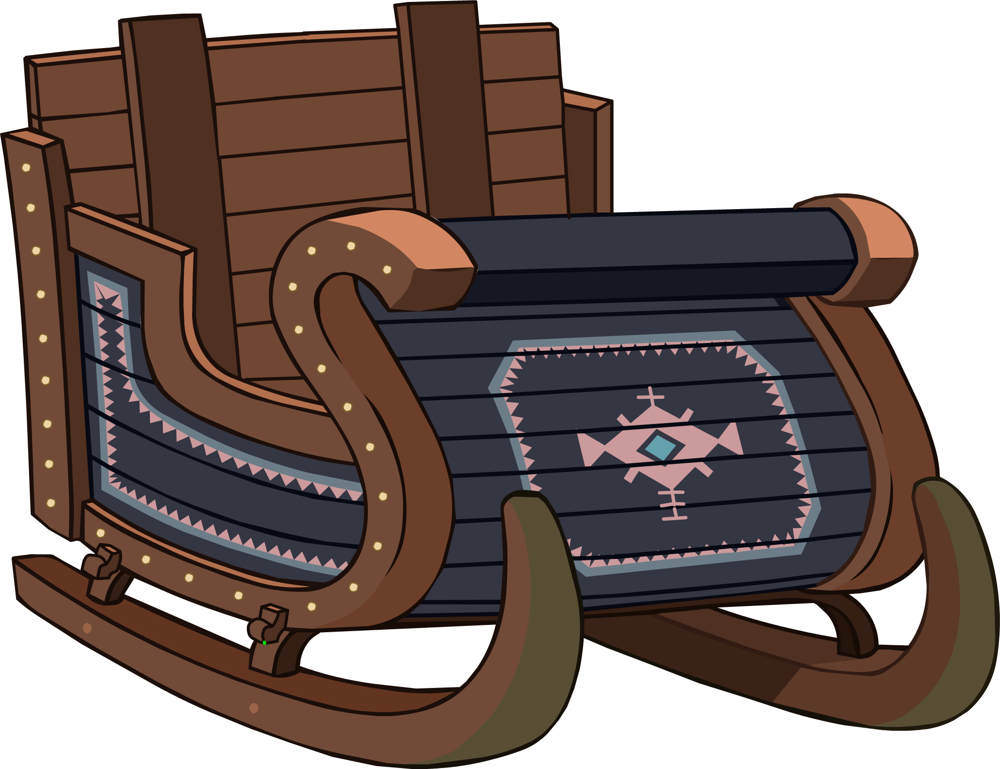 Sleigh clipart sled. Frozen fever party interface