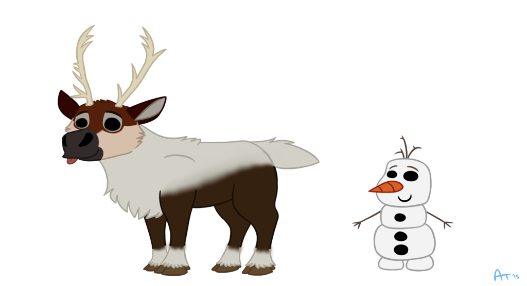 Frozen clipart sven olaf. Cheebs and by silkengalaxy