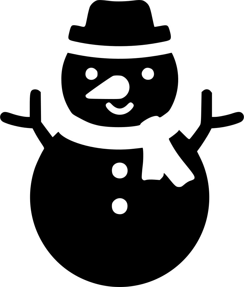 Frozen clipart svg. Xmas snowman snow png