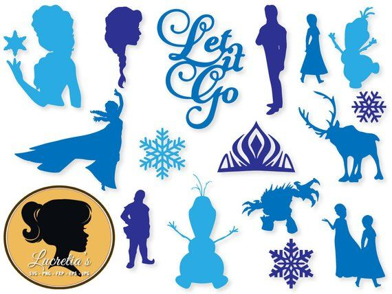 Frozen clipart svg. Dxf files for silhouette