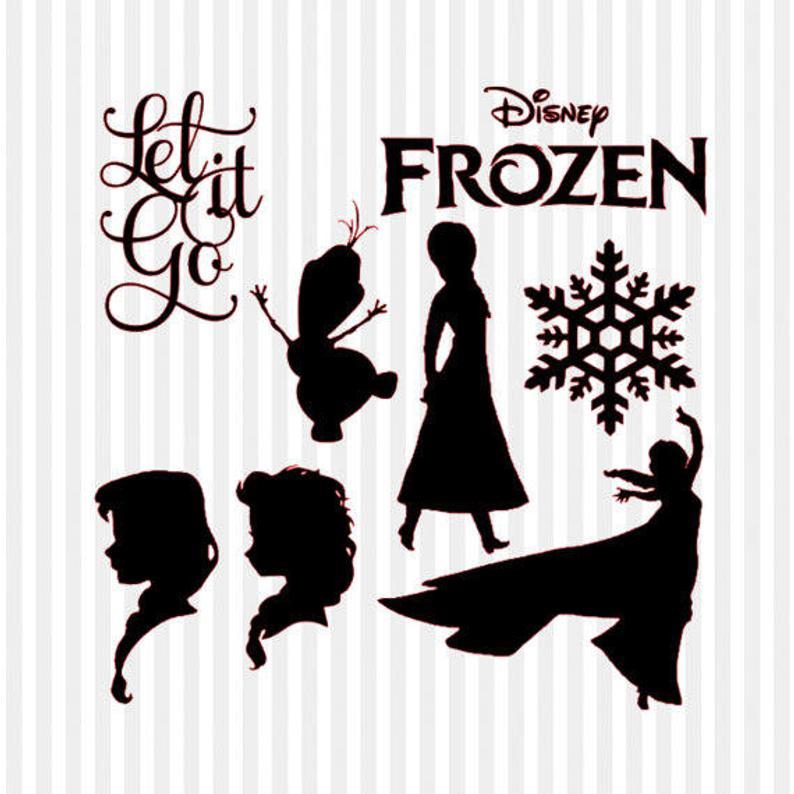 Frozen clipart svg. Silhouette disney files for