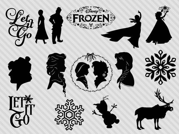 Disney s bundle dxf. Frozen clipart svg
