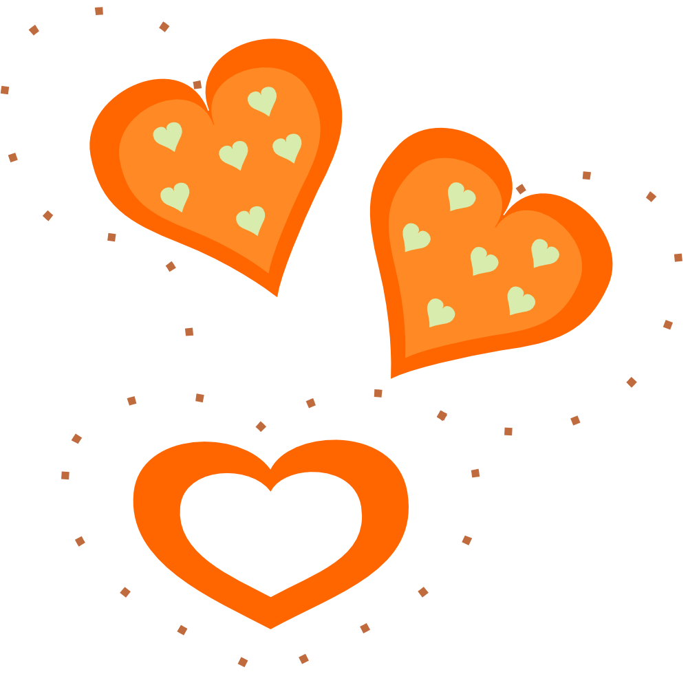 Valentine clipart frozen. Onlinelabels clip art orange