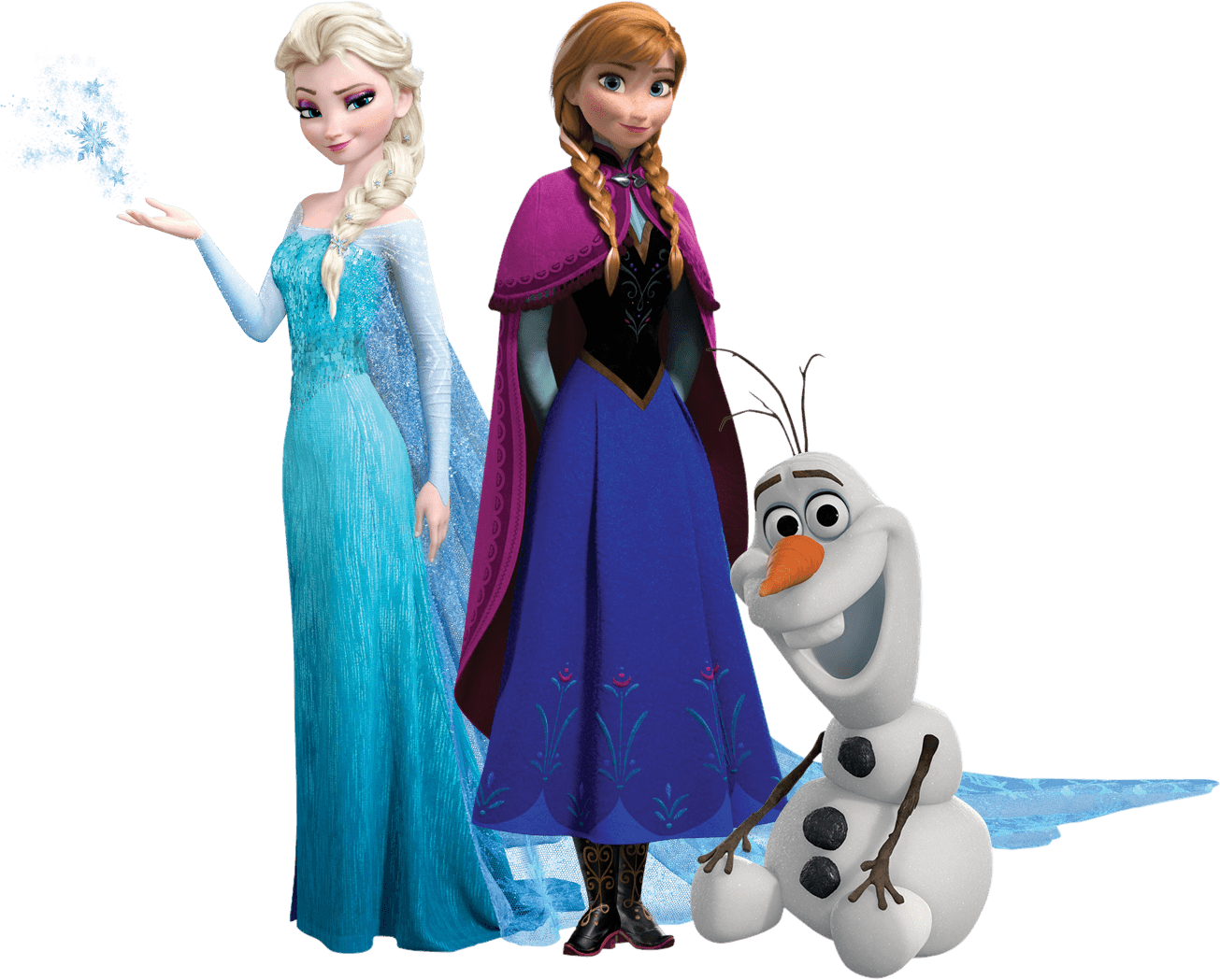 Trio transparent stickpng movies. Frozen png images
