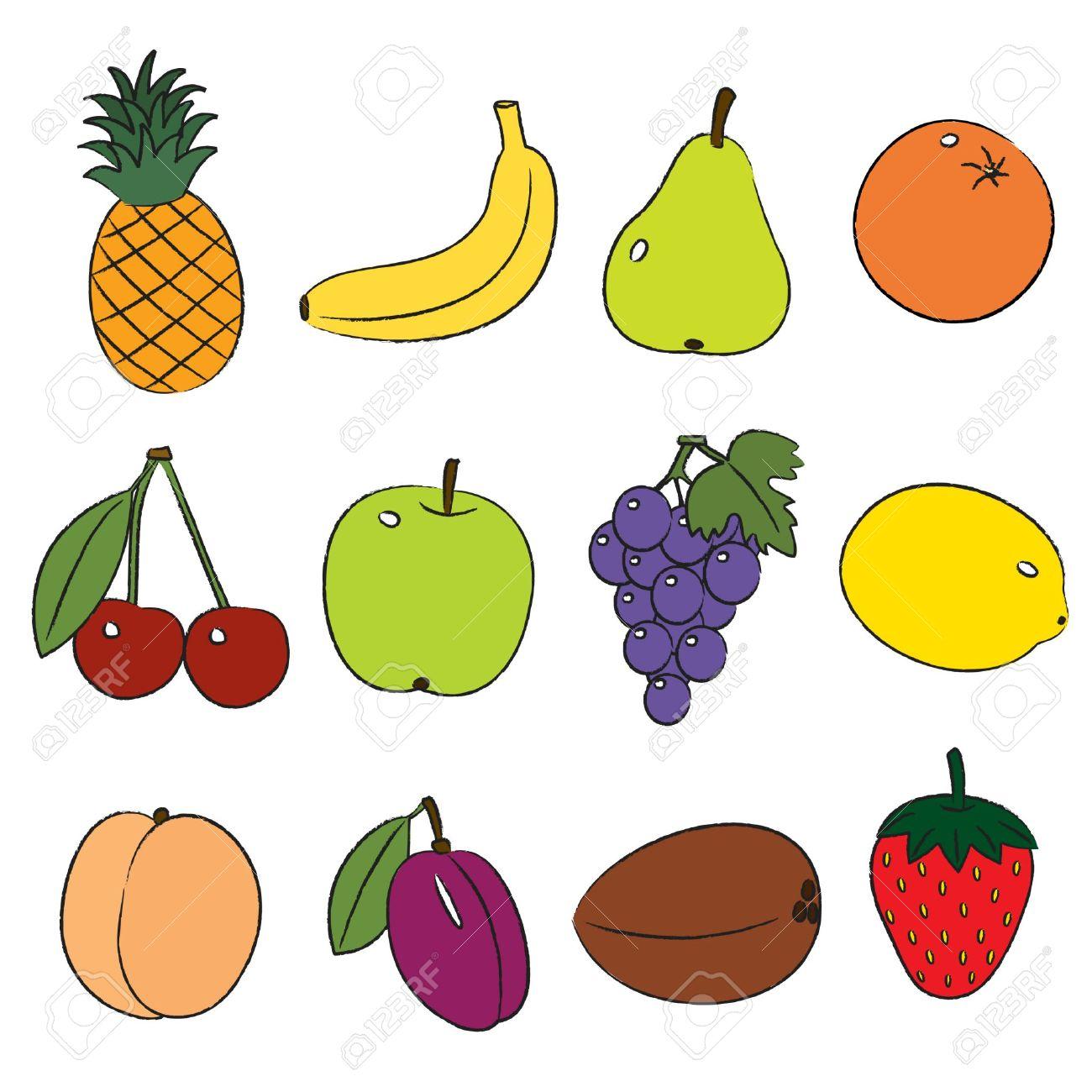 Fruits clipart vector.  fruit clip art