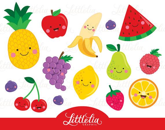 Cute . Fruit clipart