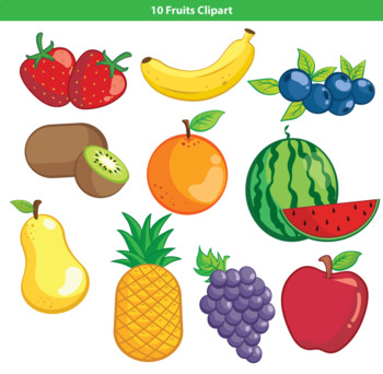 fruits by mr. Fruit clipart