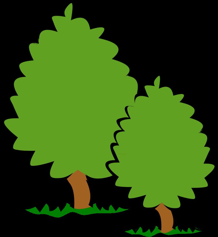 Free tree bush cliparts. Bushes clipart file