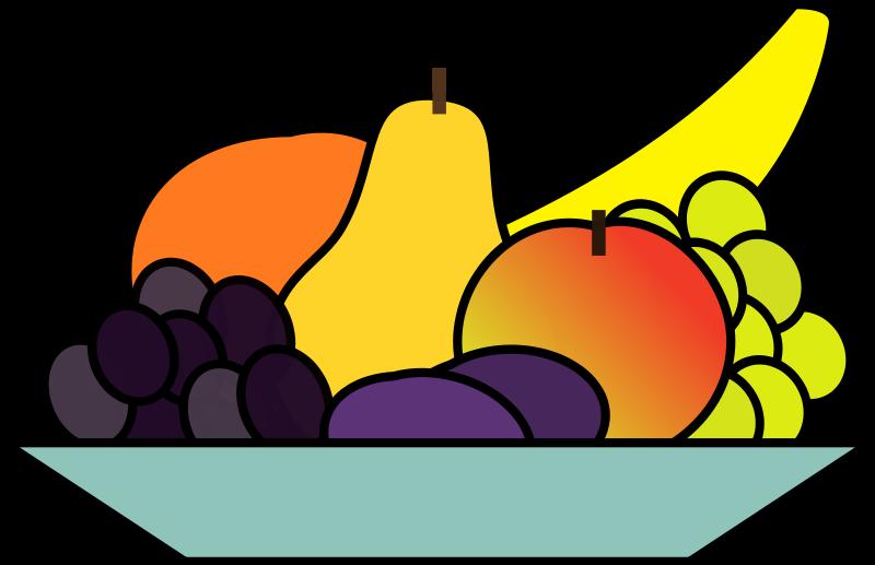 Fruits clipart cute. Bowl of fruit beautiful