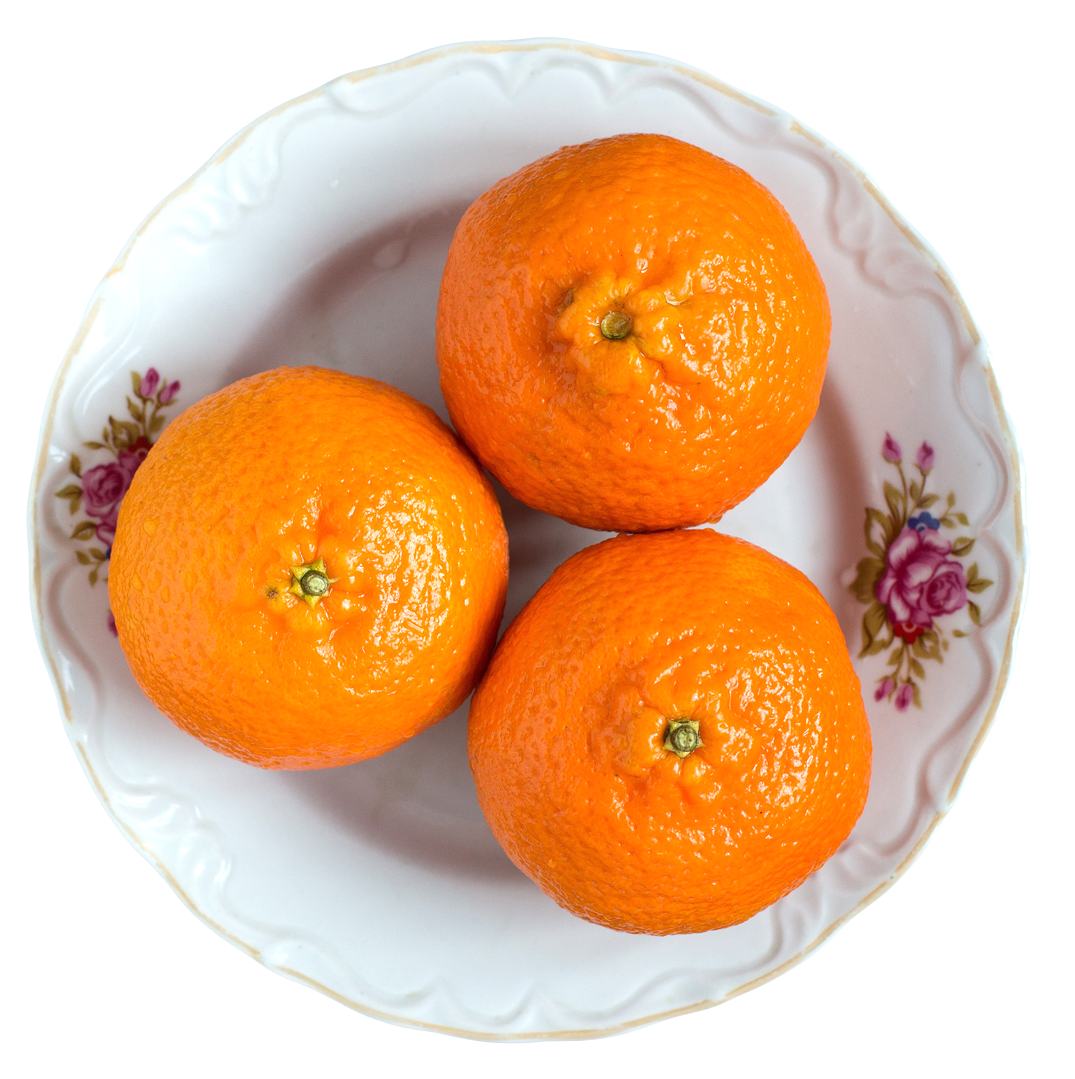 Tangerines on png image. Fruit clipart fruit plate