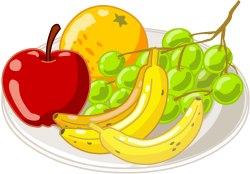 Fruit clipart fruit plate. Clip art panda free