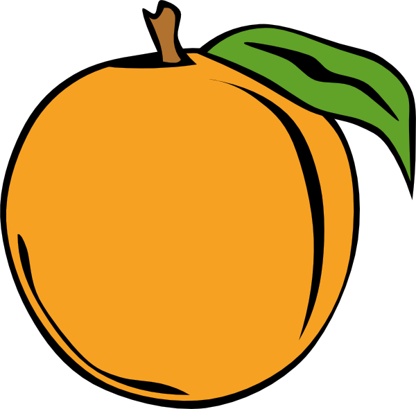Peach gallery by grant. Fruit clipart fruit tray