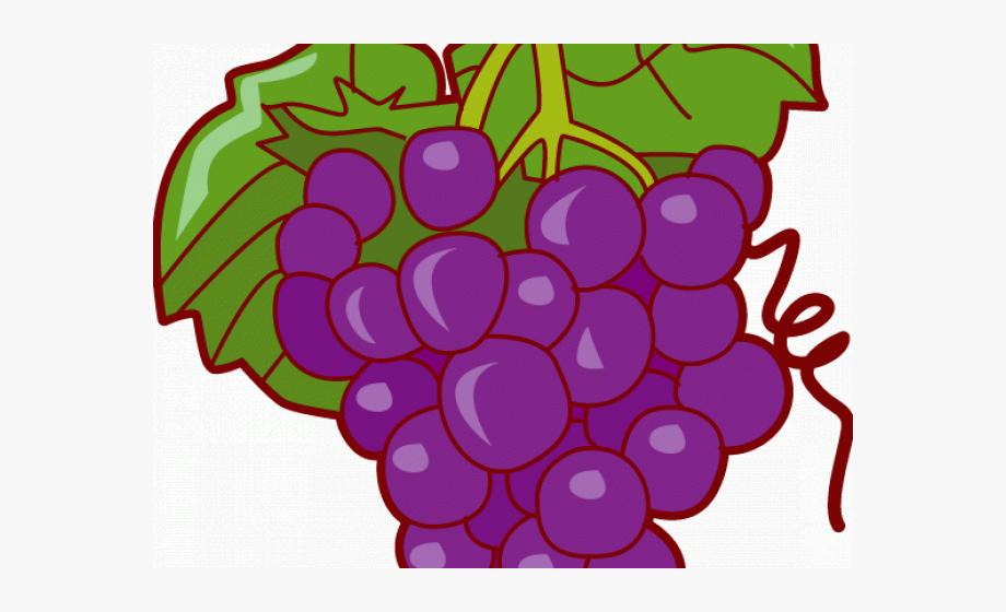 Grapes pop art clip. Fruit clipart grape
